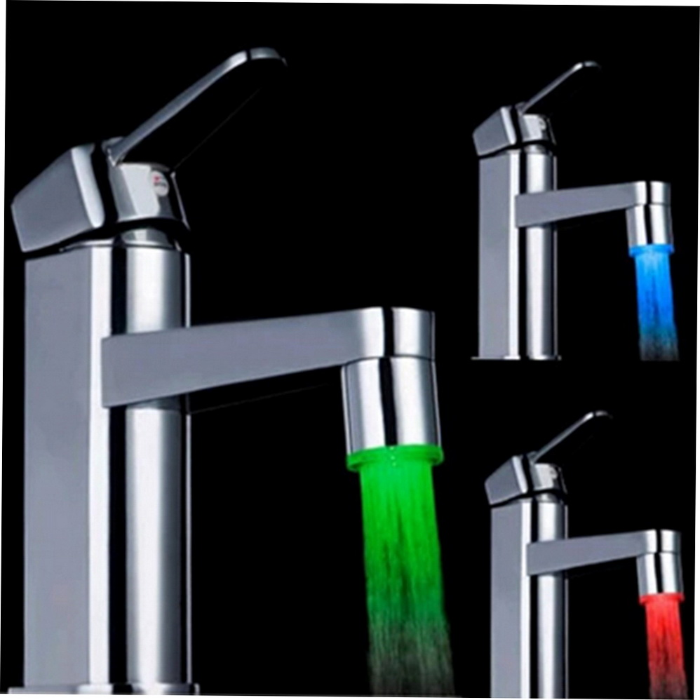 7 Color Glow Shower Waterfall Led Light Water Faucet