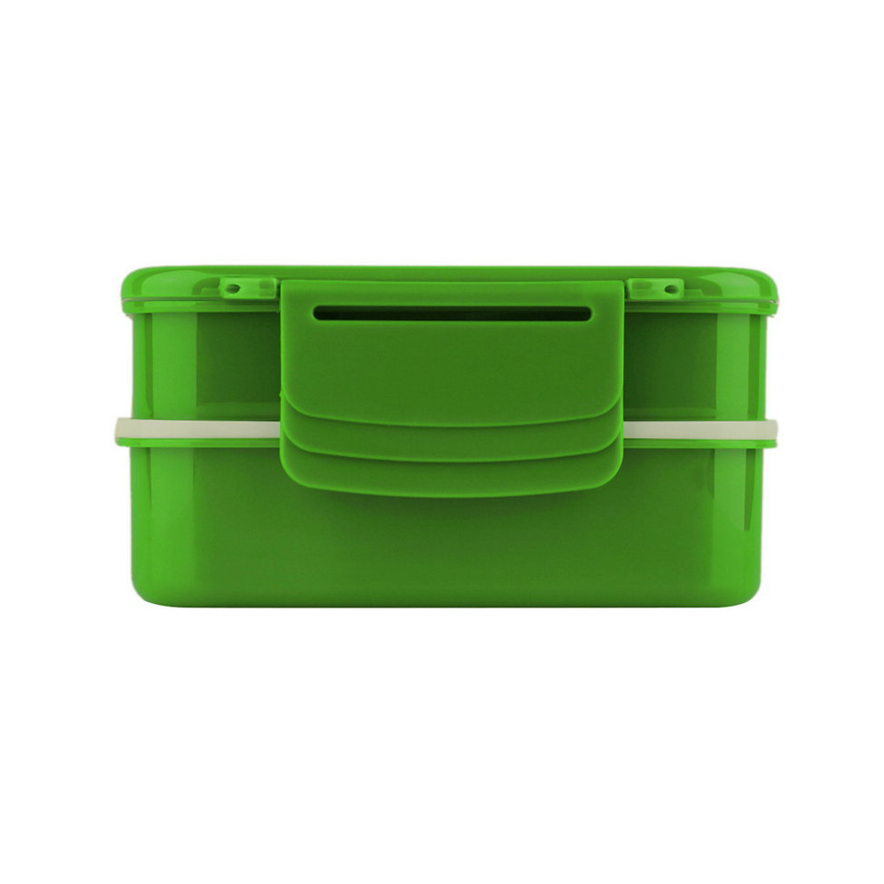 allwin portable 2 layers bento lunch box plastic food container lunch container green export. Black Bedroom Furniture Sets. Home Design Ideas