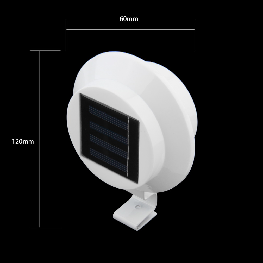 Details About 6 Pack Deal Outdoor Solar Gutter Led Lights White Sun Power Ebay