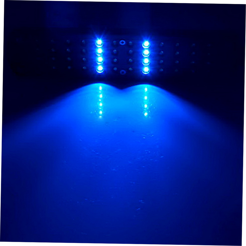 48 led aquarium fish plant 2 mode clip white blue light. Black Bedroom Furniture Sets. Home Design Ideas