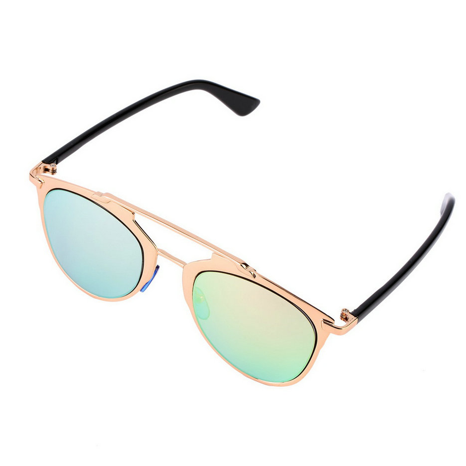 Large Frame Ladies Glasses : New Classic Large Sunglasses Women Metal Frame Cat Eye ...