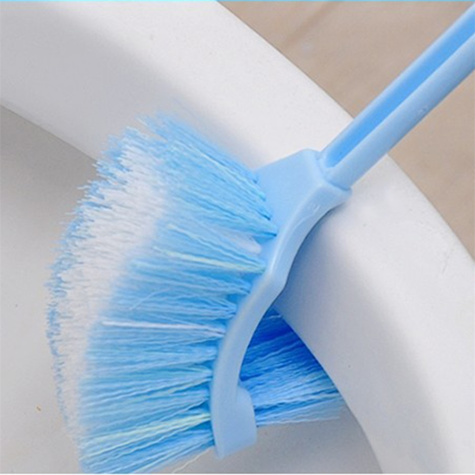 Plastic Long Handle Bathroom Toilet Bowl Scrub Double Side Cleaning Brush Dh Ebay