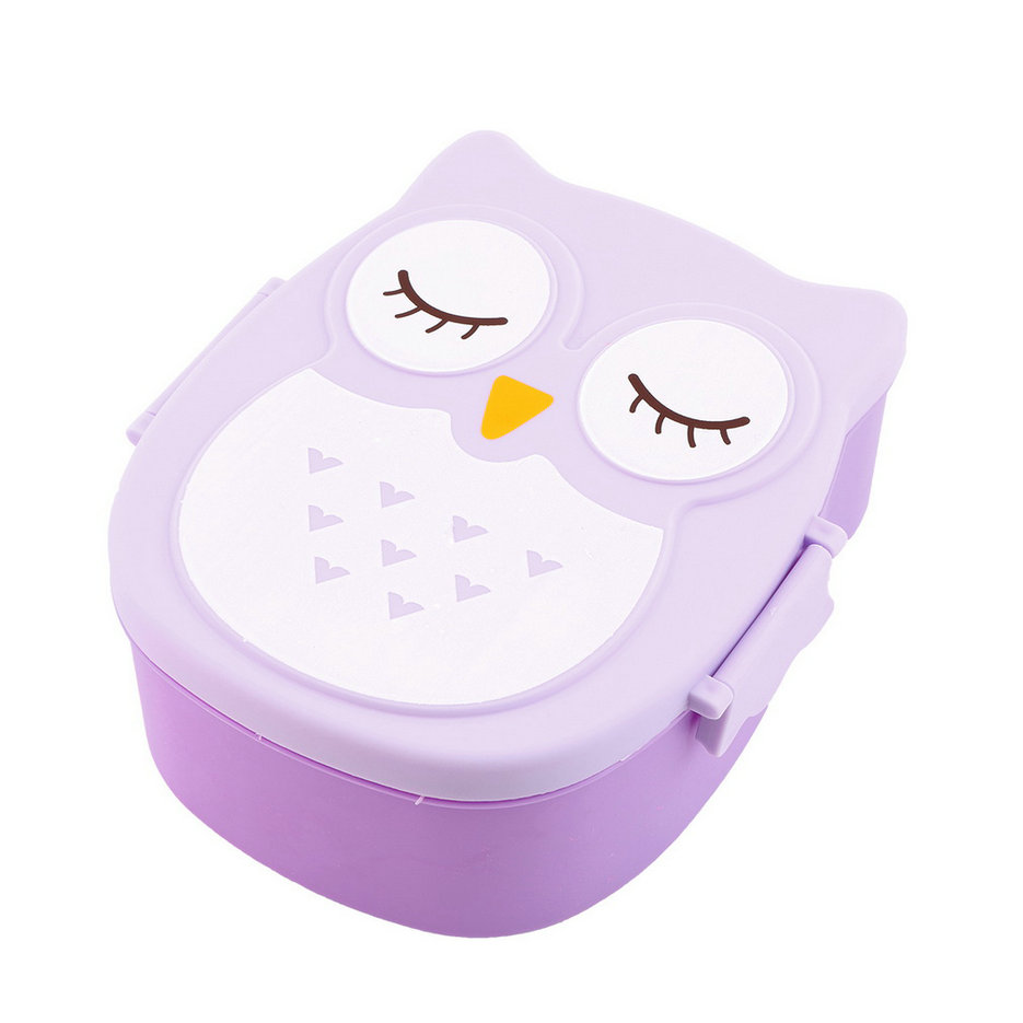 1050ml owl lunch box bento food safe plastic food picnic container be ebay. Black Bedroom Furniture Sets. Home Design Ideas