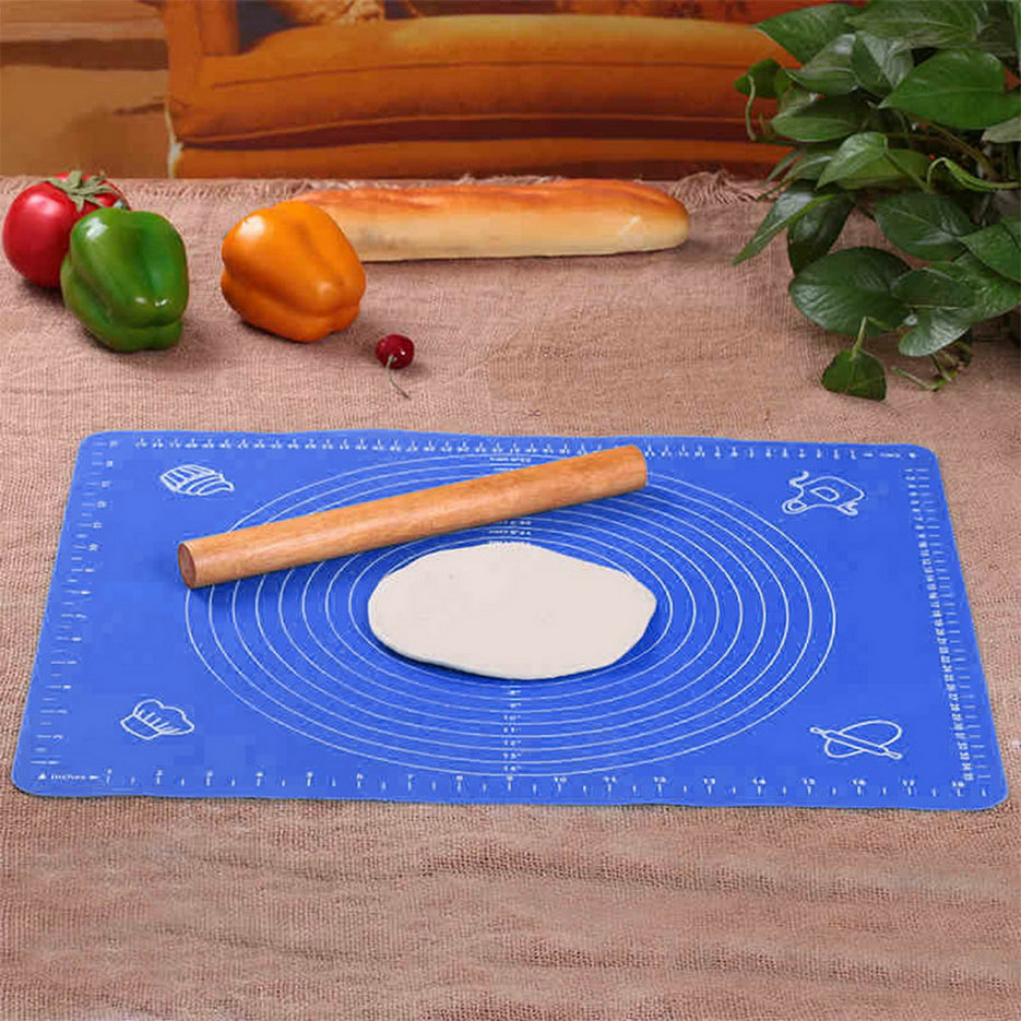 Cake Decorating Sugar Dough : Silicone Roll Cut Mat Rolling Cutting Pad Fondant Cake ...