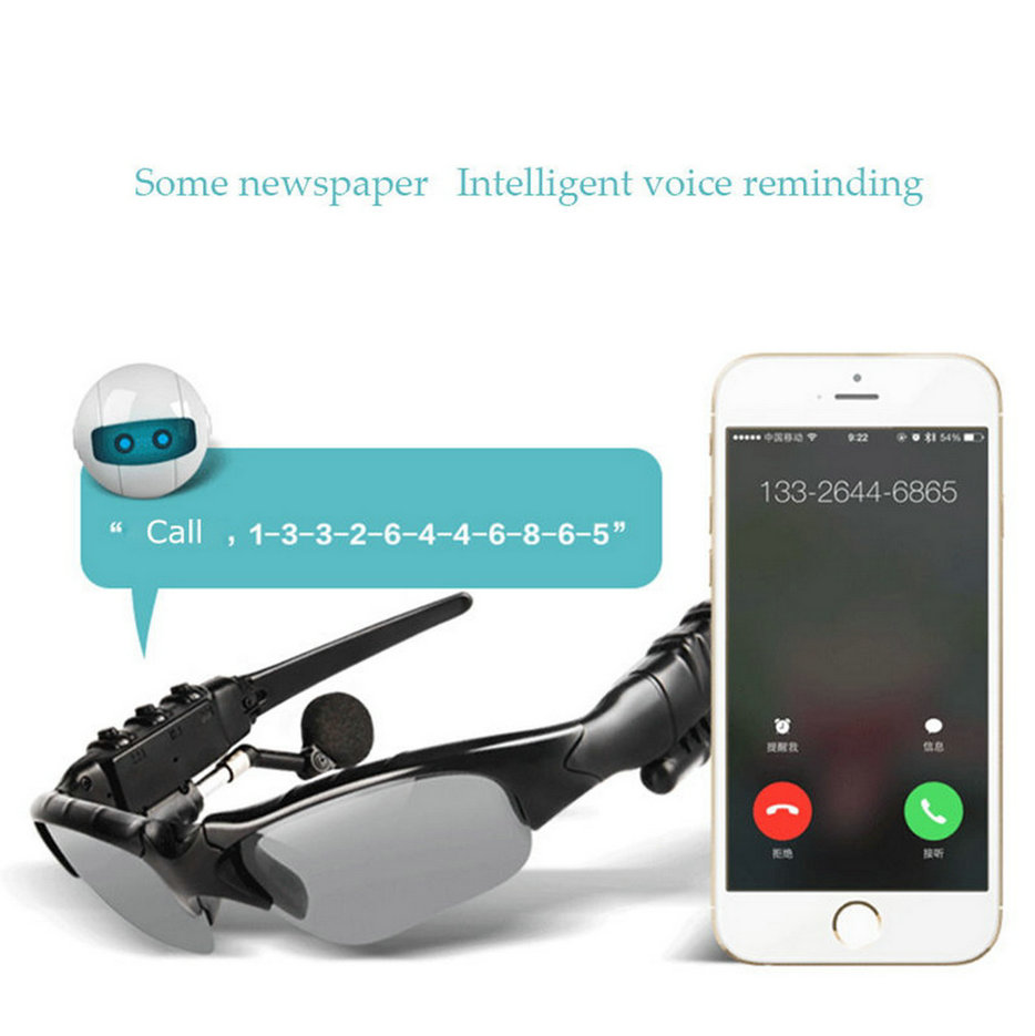 sunglasses bluetooth headset earphone hands free phone call for iphone fw. Black Bedroom Furniture Sets. Home Design Ideas
