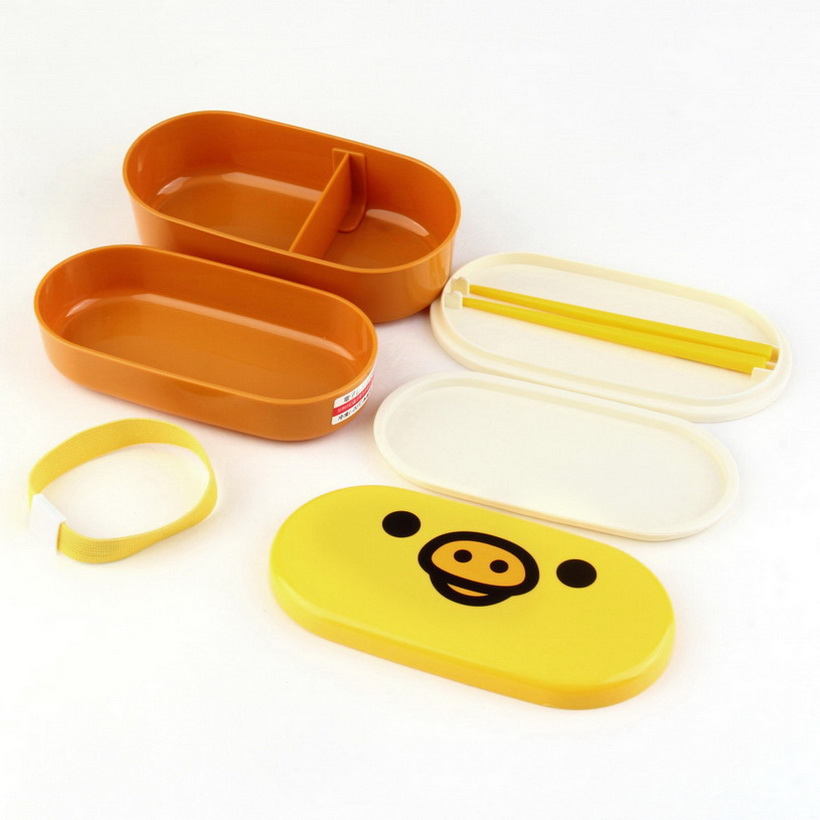 lovely high heat resistance double layers chopsticks plastic bento lunch box sy ebay. Black Bedroom Furniture Sets. Home Design Ideas