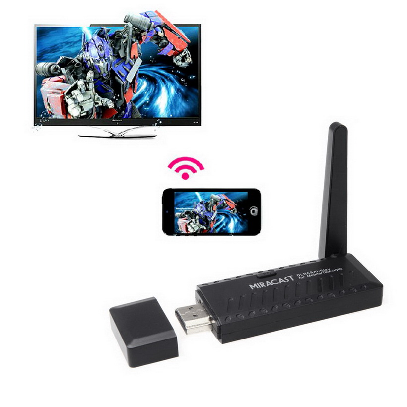 Miracast Wifi Display Dongle Receiver 1080P HDMI Wireless IPUSH