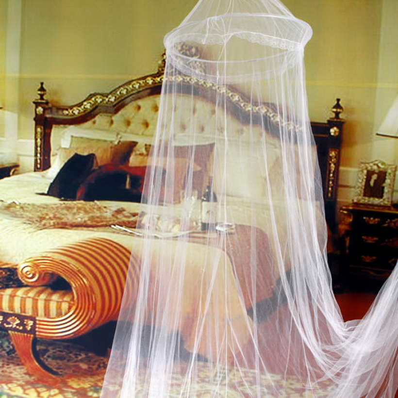 Elegant-Round-Lace-Insect-Bed-Canopy-Netting-Curtain- & Elegant Round Lace Insect Bed Canopy Netting Curtain Dome Mosquito ...
