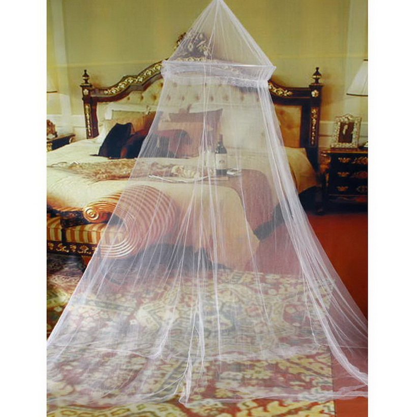 Elegant Round Lace Insect Bed Canopy Netting Curtain Dome