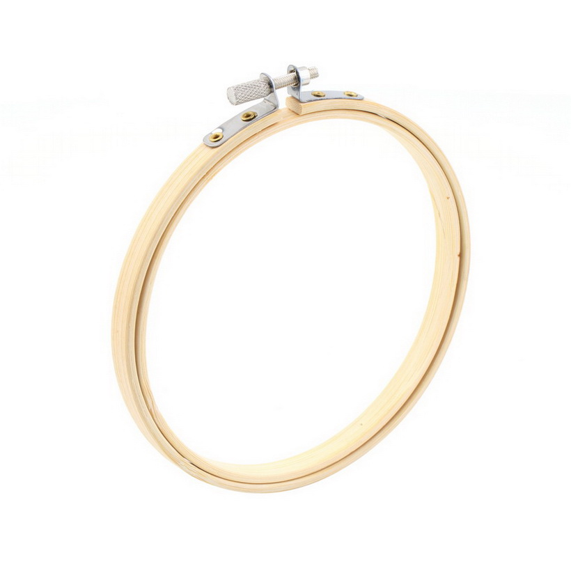 Wooden Cross Stitch Machine Embroidery Hoop Ring Bamboo Sewing 13-30cm QT