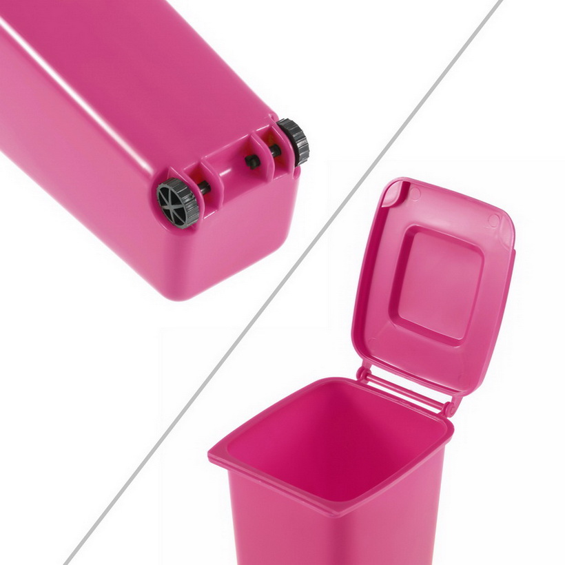 Mini Wheelie Bin Desk Tidy Office Desktop Stationery Organiser Pencil Holder Ue Ebay