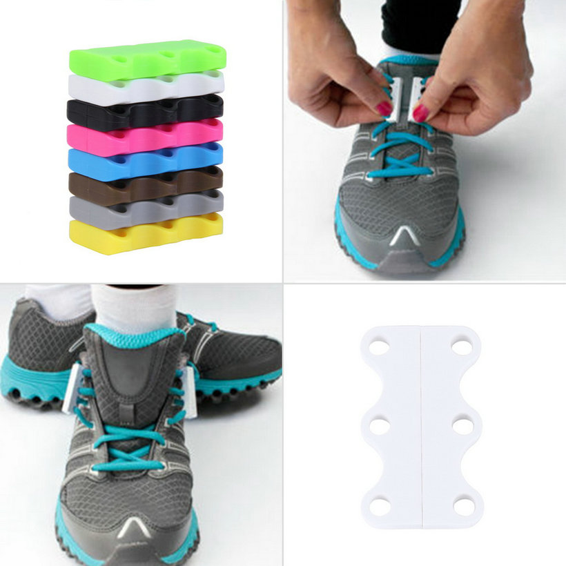 Novelty Magnetic Casual Sneaker Shoe Buckles Closure No-Tie Shoelace New QT
