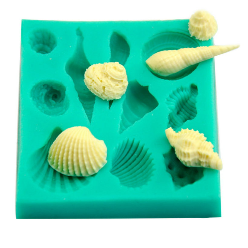 Silicone 3d Seashell Beach Shells Cake Molds Chocolate