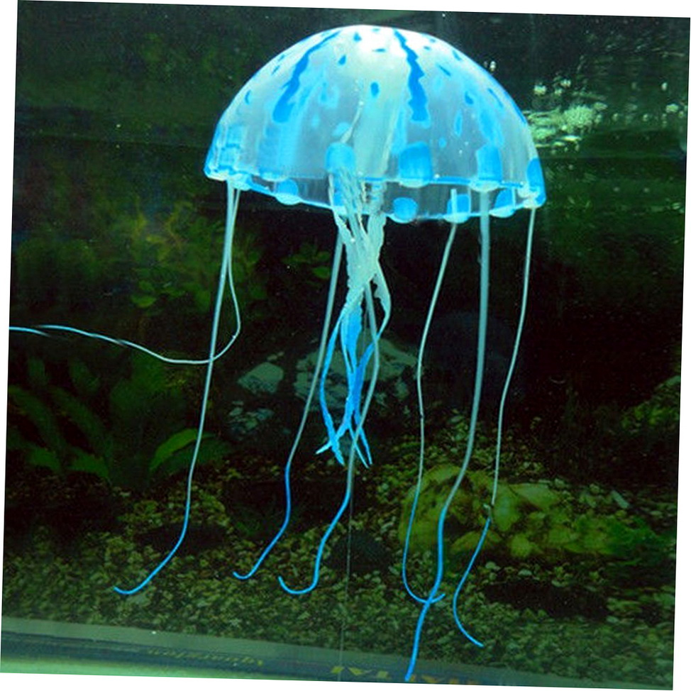 Glowing effect artificial jellyfish ornament fish tank for Artificial fish tank