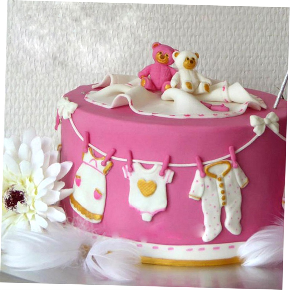 3D Baby Clothes Silicone Fondant Mould Cake Decorating ...