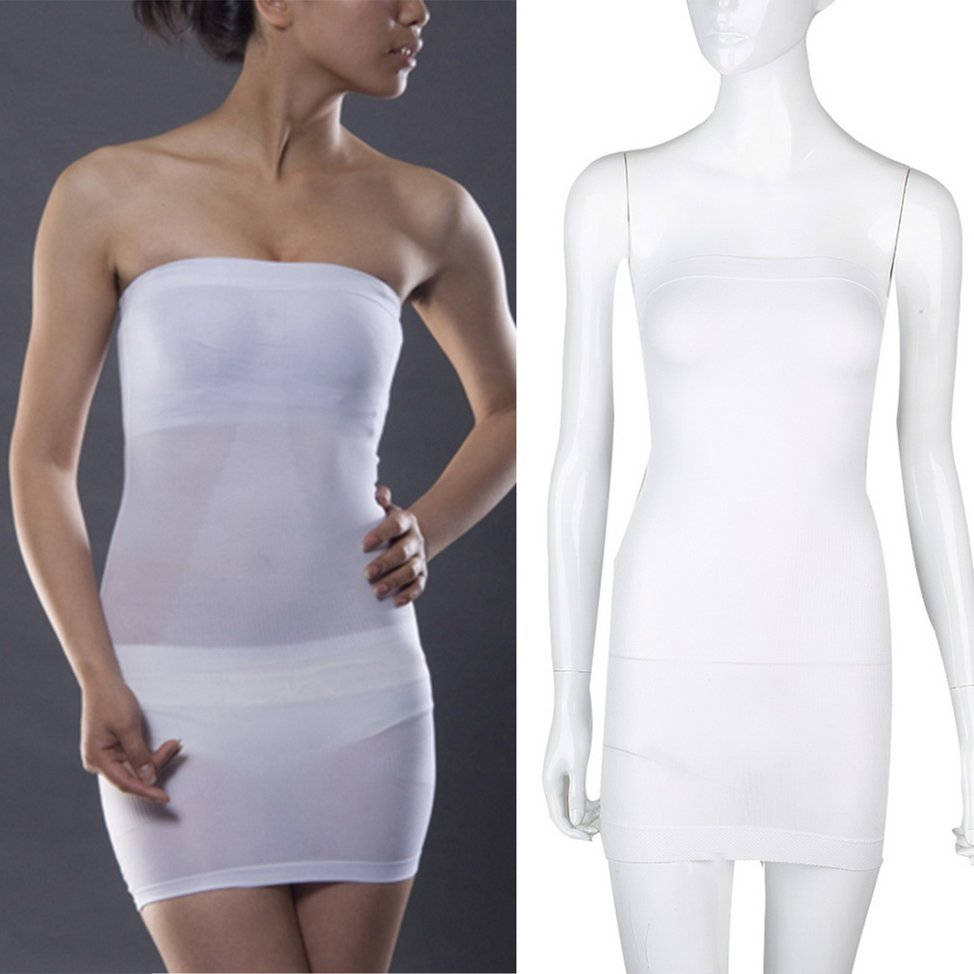 Wedding seamless strapless full slip slim dress shapewear for Slimming undergarments for wedding dress