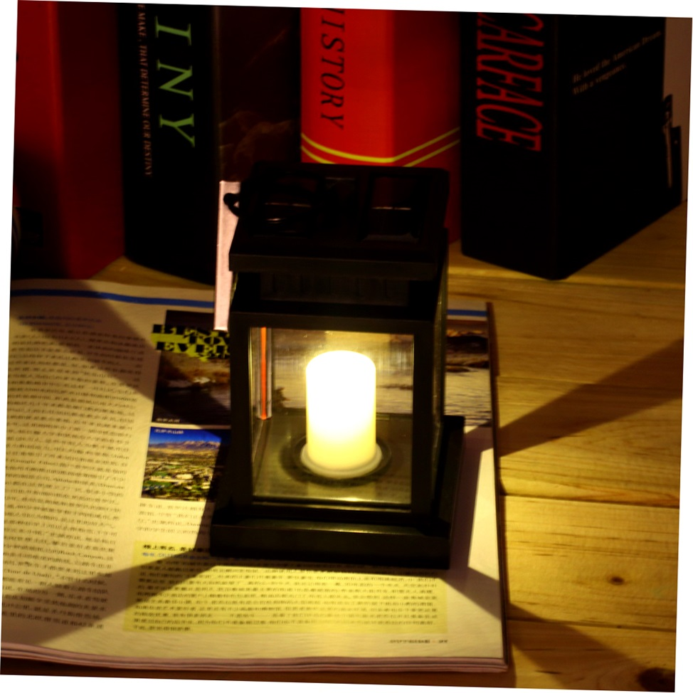 Outdoor Candle Wall Lights : Outdoor Candle Lantern Solar Powered Light Garden Yard Wall Landscape Lamp GH eBay