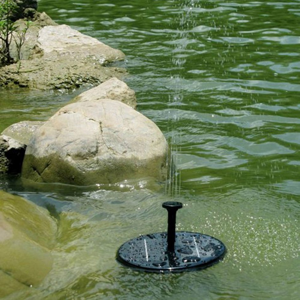 Solar powered water pump garden fountain pond for for Solar water pump pond