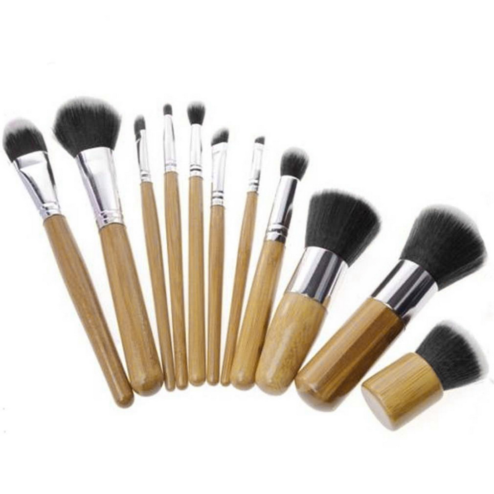 11tlg make up pinsel professionelle kosmetik brush makeup set schminkpinsel up ebay. Black Bedroom Furniture Sets. Home Design Ideas