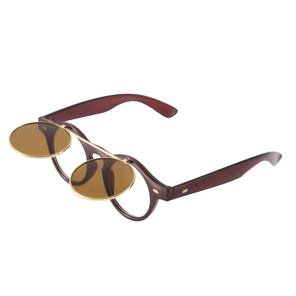 Glasses Frame Flip Up : Hot Fashion Goggles Glasses Retro Flip Up Round Sunglasses ...