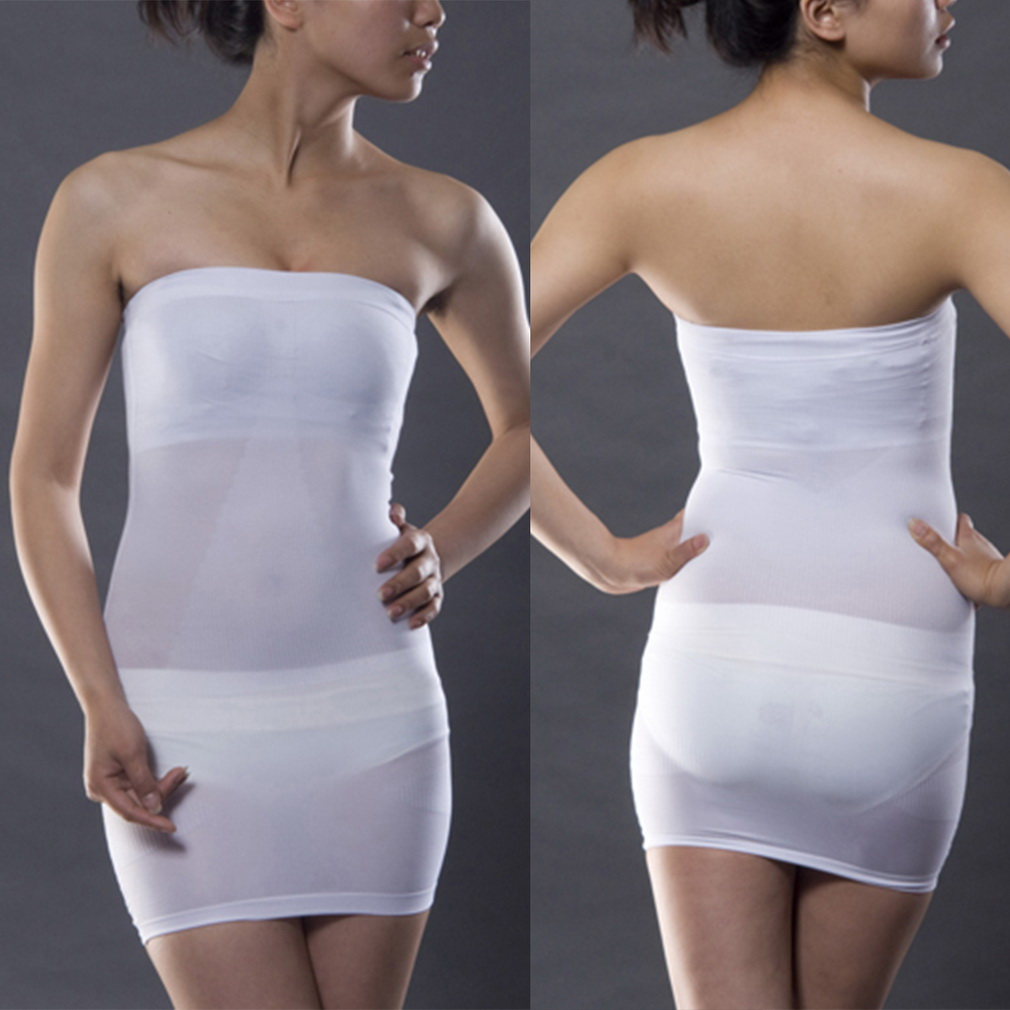Wedding seamless strapless full slip slim dress shapewear for Wedding dress body shapers