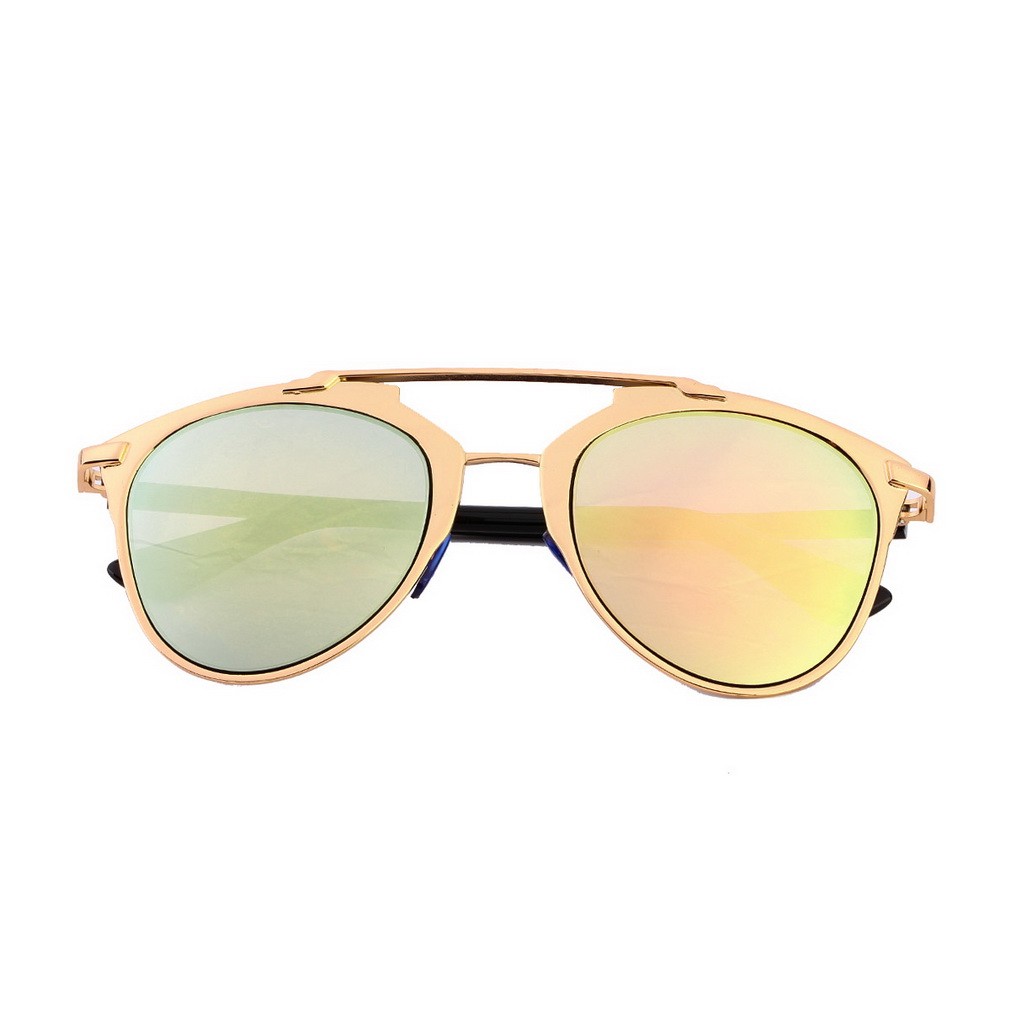 New Classic Large Sunglasses Women Metal Frame Cat Eye ...