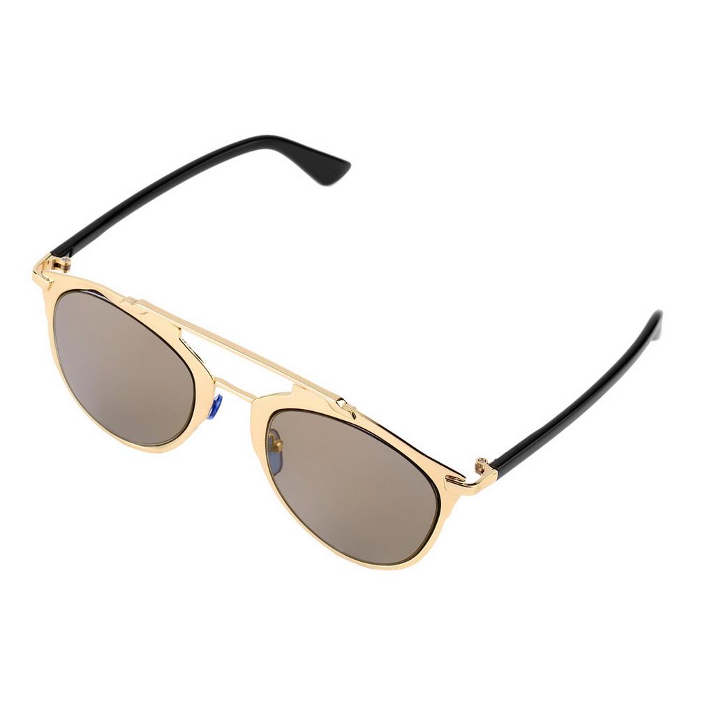Ladies Metal Frame Glasses : Classic Large Sunglasses Women Metal Frame Cat Eye Glasses ...