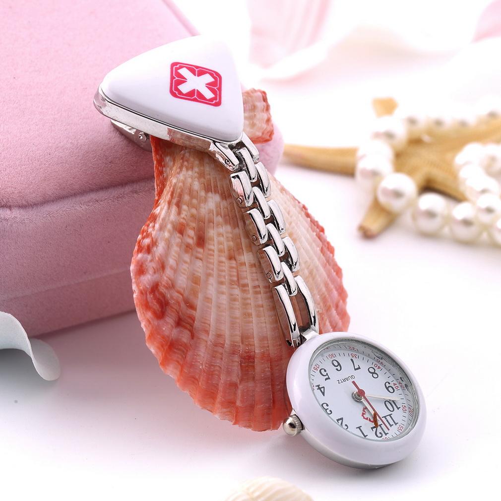 Round Triangular Nurse  Doctor Watch Hanging Pocket Clip-on Time Piece New AU