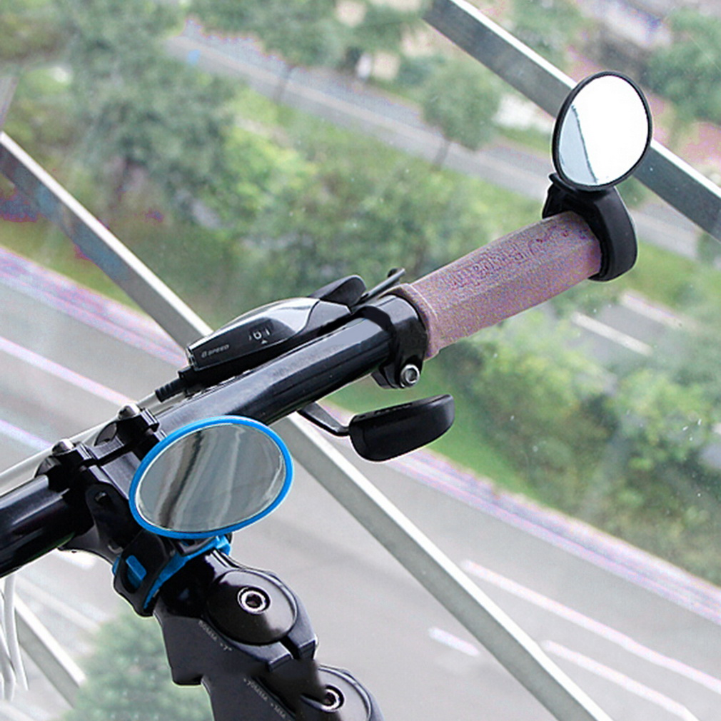 Cycling bike bicycle rear view mirror handlebar flexible safety rearview HI