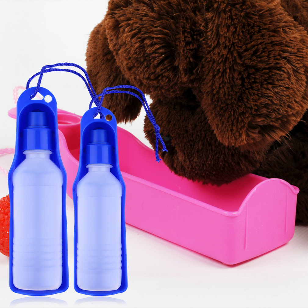 250ml Foldable Pet Dog Water Bottle Outdoor Travel: Portable Pet Dog Cat Travel Water Drink Bowl Bottle