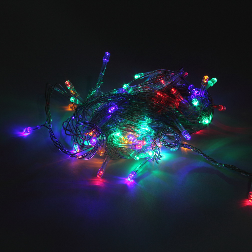 Outdoor Holiday String Lights : 10M 100LED Holiday Christmas Party String Fairy Outdoor Garden Lights Decor BS