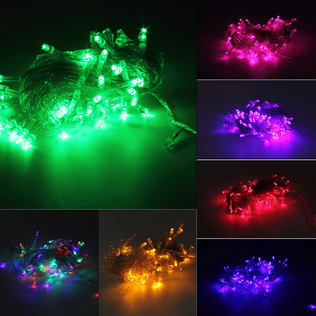10M 100LED Holiday Christmas Party String Fairy Outdoor Garden Lights Decor BS