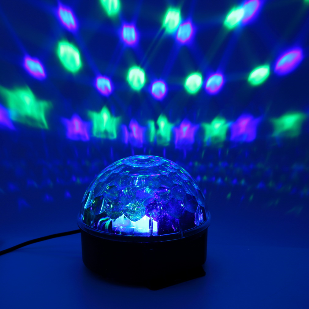 6 Colors LED Crystal Magic Ball Effect Light for Disco DJ Stage Party OY