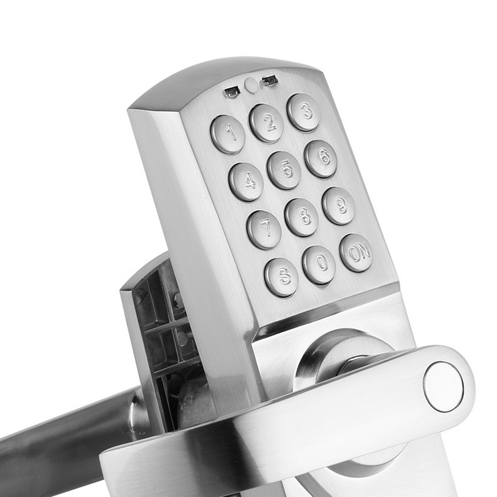 keyless entry door lock digital code electronic keypad security left handle new. Black Bedroom Furniture Sets. Home Design Ideas