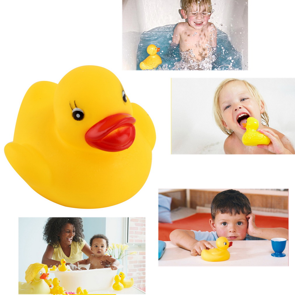 1 10 20pcs baby bathing bath tub toys mini rubber duck. Black Bedroom Furniture Sets. Home Design Ideas