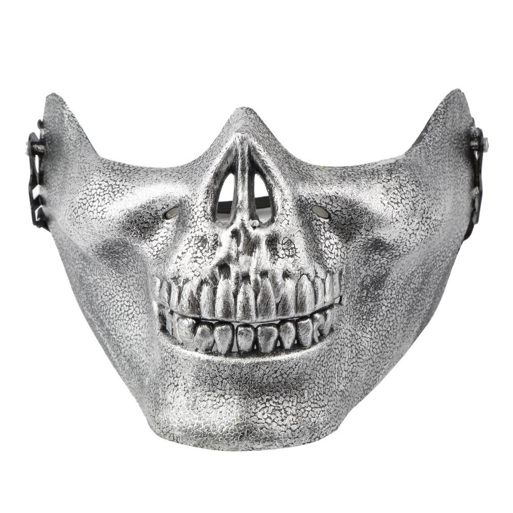 Skeleton Mask Half Face CS Actual Combat Warrior Face Masks ...
