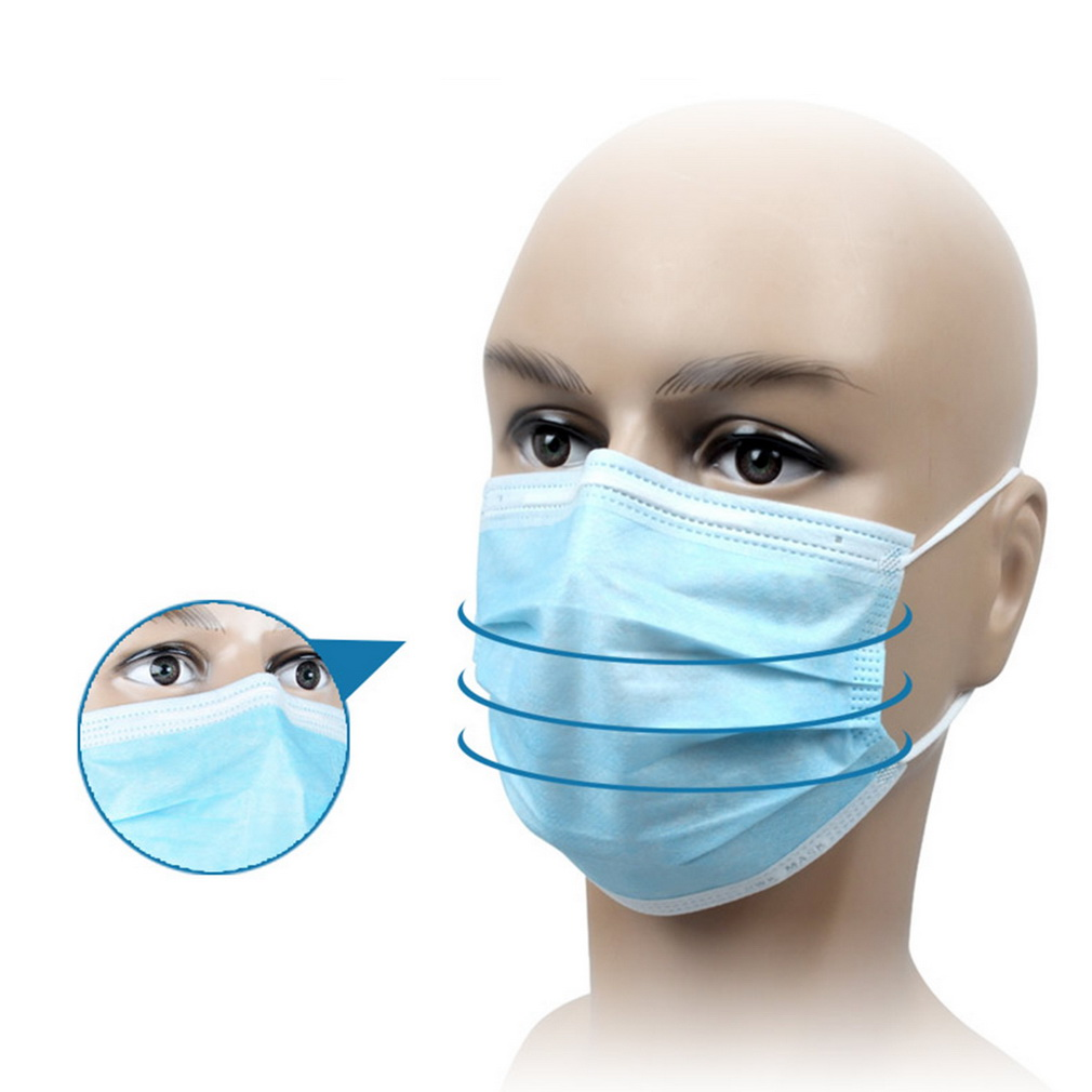 Face Mask: Disposable Medical Dustproof Surgical Face Mouth Masks Ear
