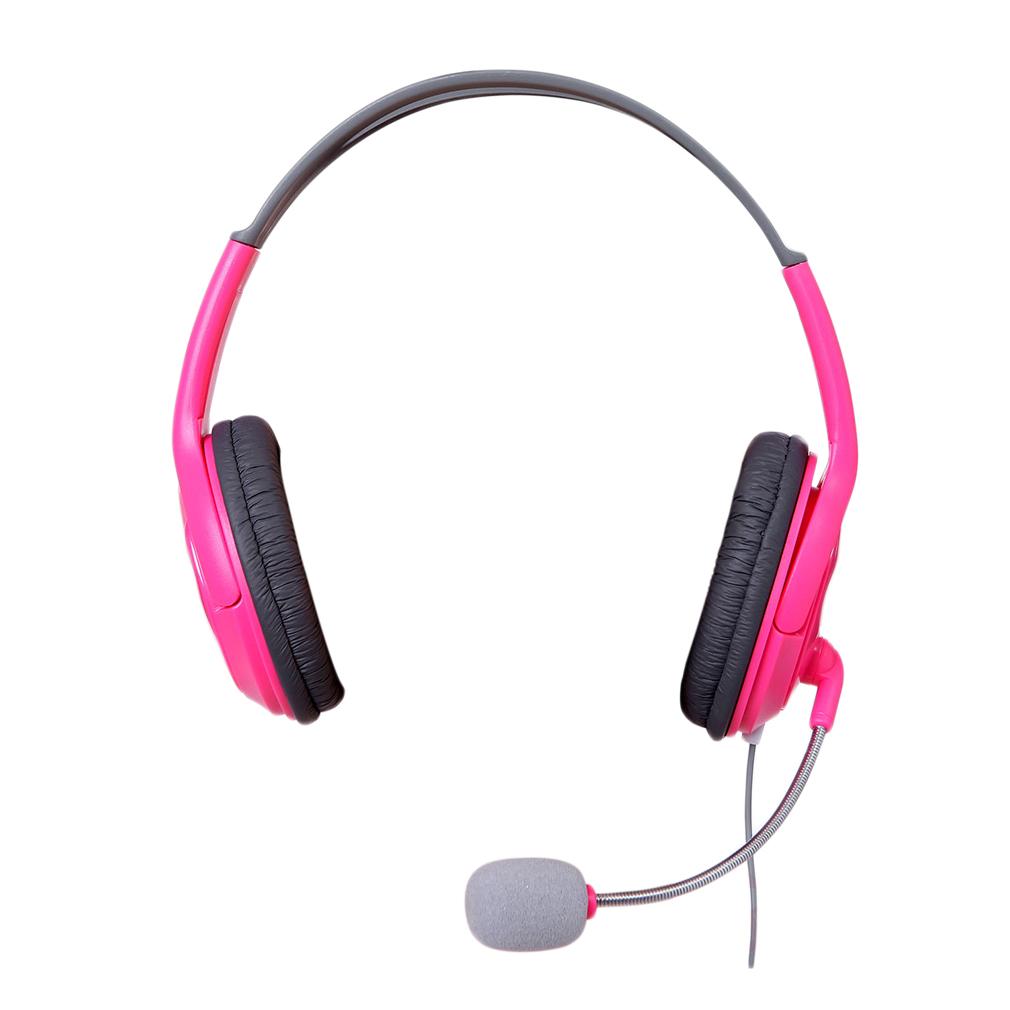 Wireless pink earphones with mic - headphone with mic phone