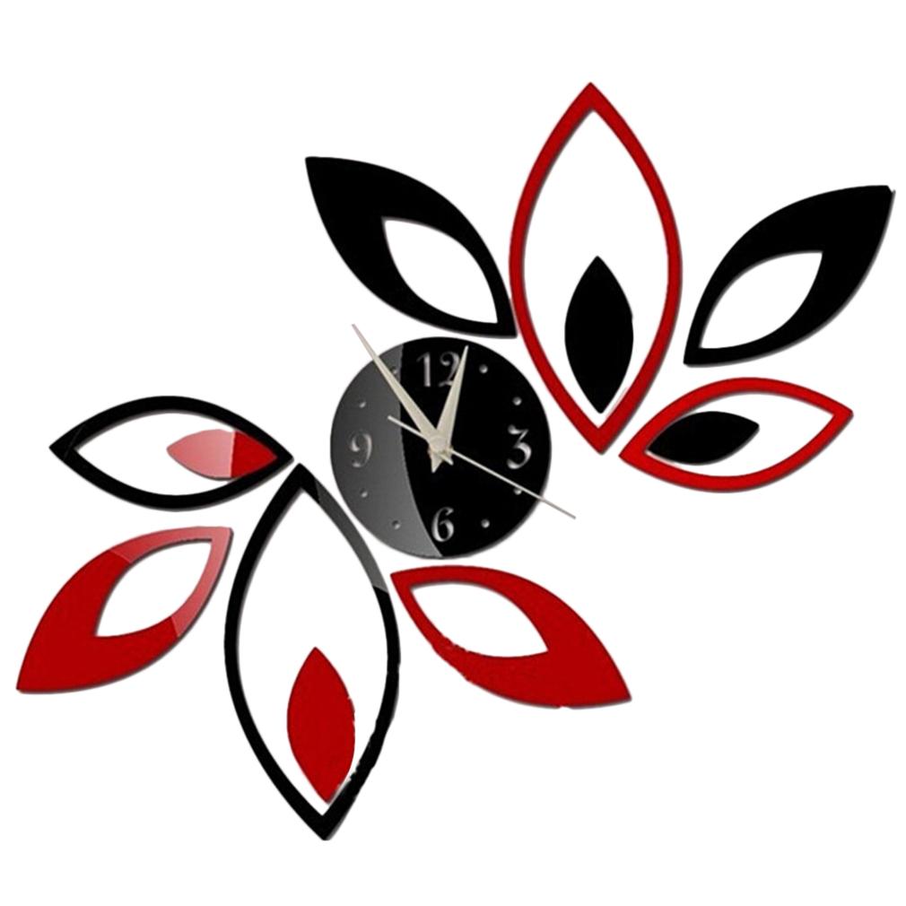 Orologio da parete adesivo diy muro 3d wall clock for Orologio stickers