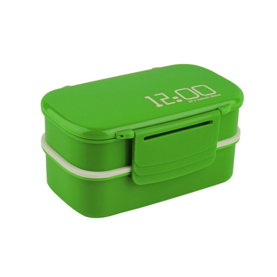 portable 2 layers bento lunch box plastic food container lunch container de ebay. Black Bedroom Furniture Sets. Home Design Ideas