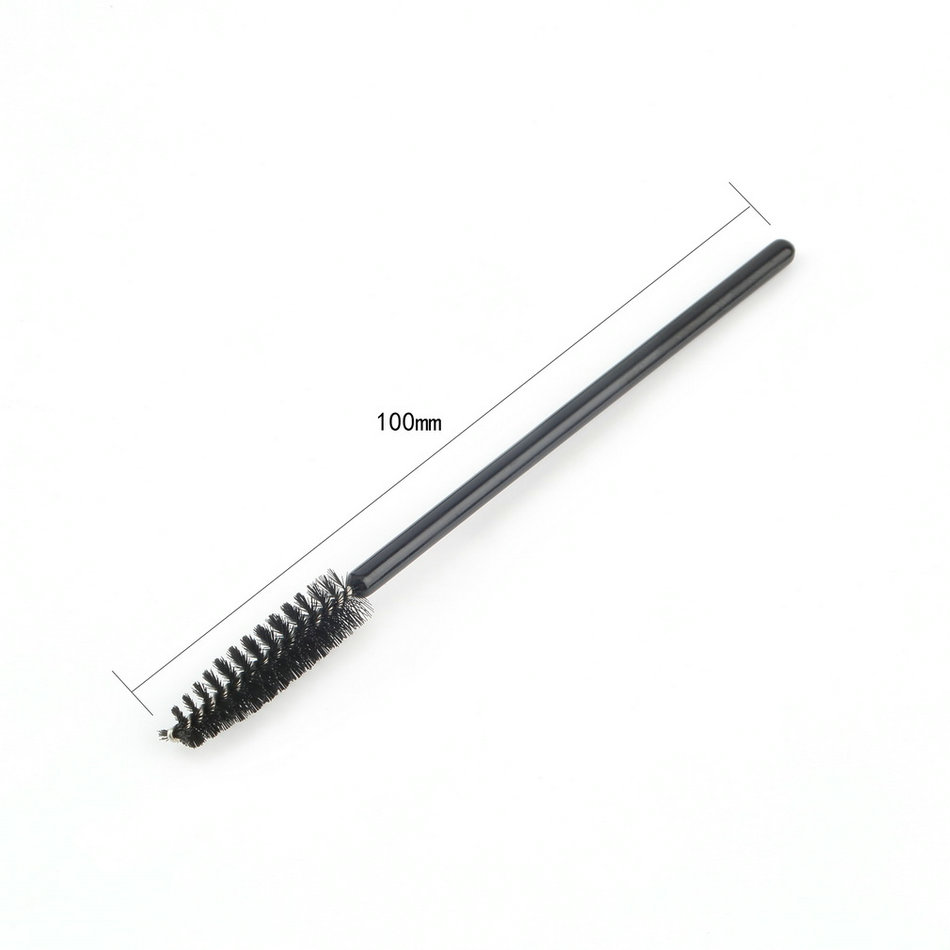 100 pcs disposable eyelash mini brush mascara wands for Mascara with comb wand