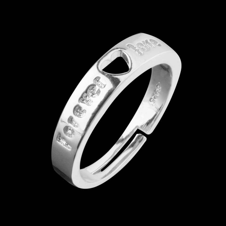 1 pair silver rings and