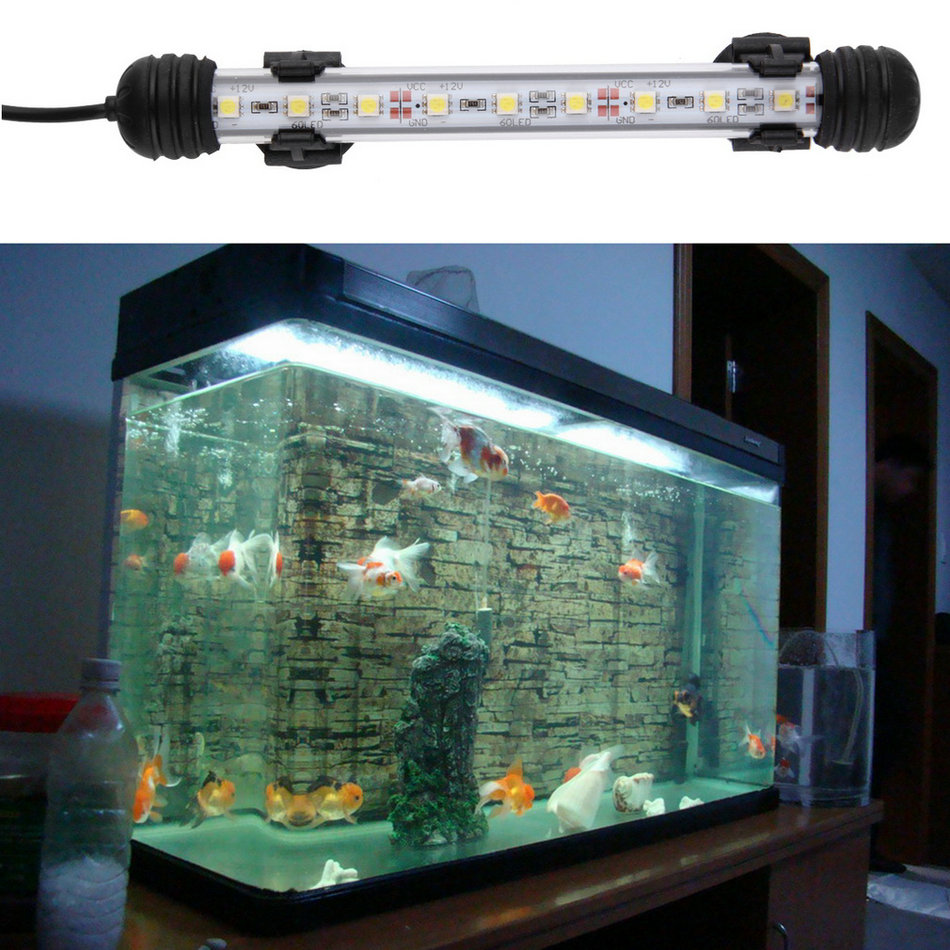 Waterproof underwater aquarium fish tank led light bulb for Fish tank lighting