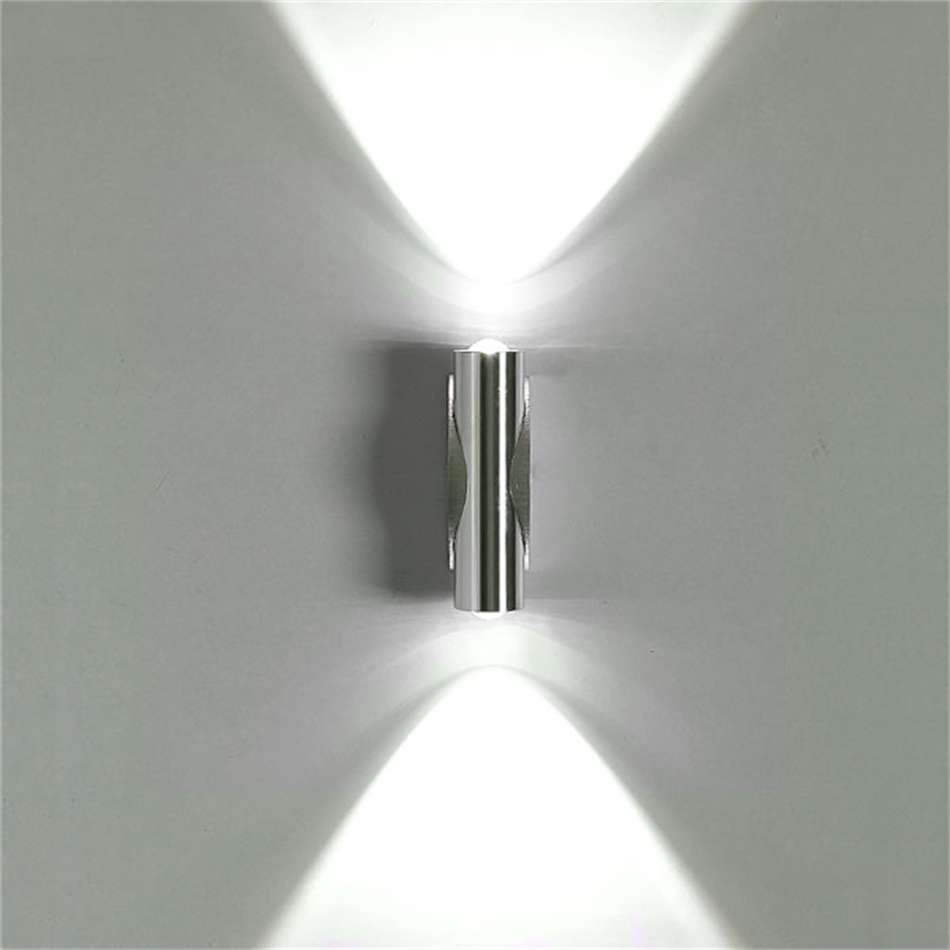 Led Wall Light White: 6W Day White LED Wall Light Up Down Lamp Sconce Mirror