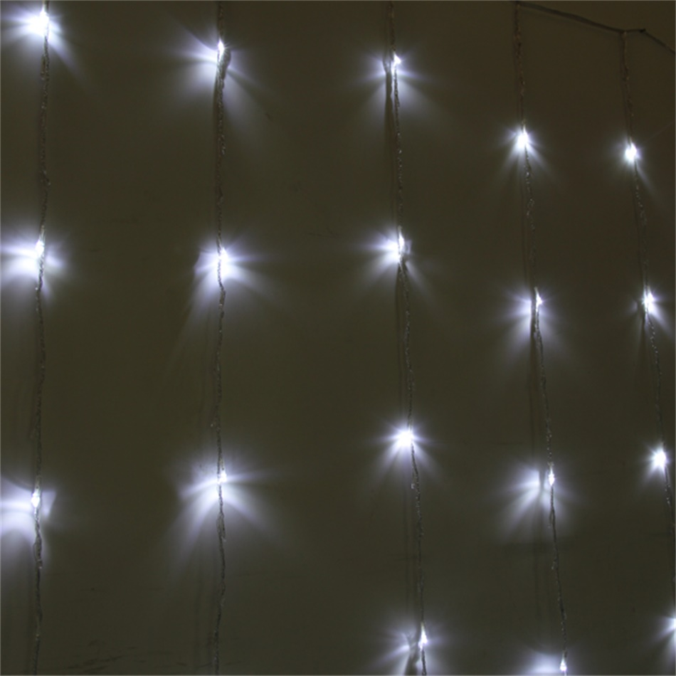 Indoor String Lights Curtain : 360LED Curtain Fairy Light Waterfall Indoor/Outdoor Christmas Wedding White KE