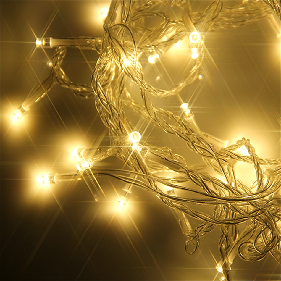 20m 200 LED Warm String Fairy Light Indoor Outdoor Garden Party Wedding Xmas KE eBay