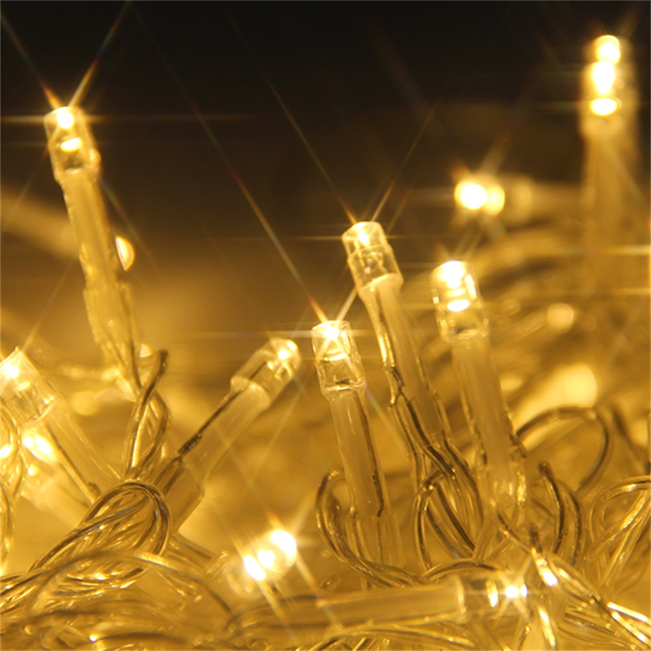 Led Outdoor Party String Lights: 20m 200 LED Warm String Fairy Light Indoor Outdoor Garden