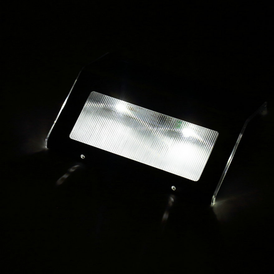 LED Solar Power Path Stair Outdoor Light Wall Landscape Lamp MC