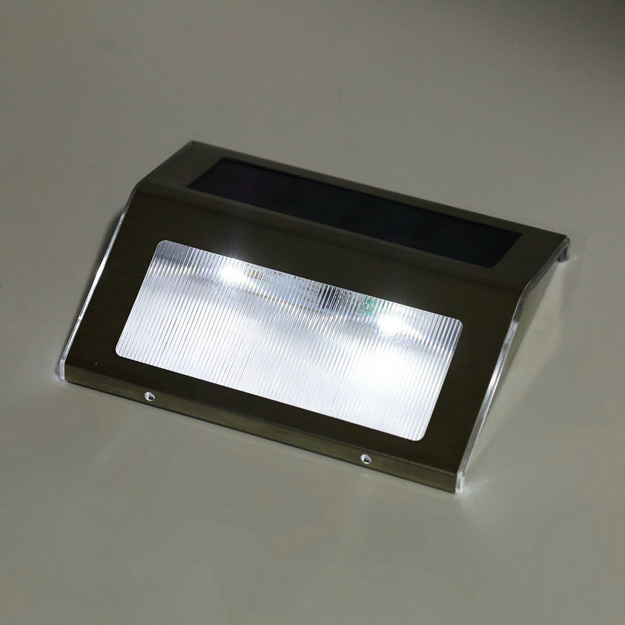 Led solar power path stair outdoor light wall landscape for Led yard lights