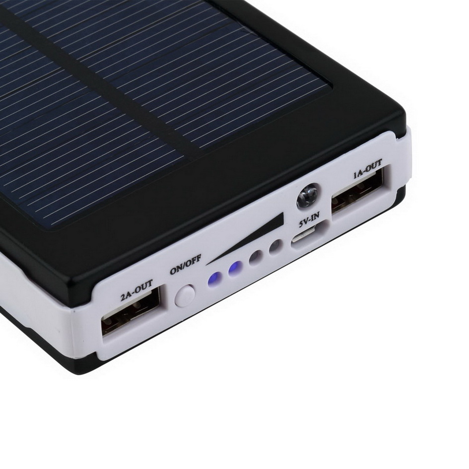 portable super power bank solar charger dual usb external. Black Bedroom Furniture Sets. Home Design Ideas